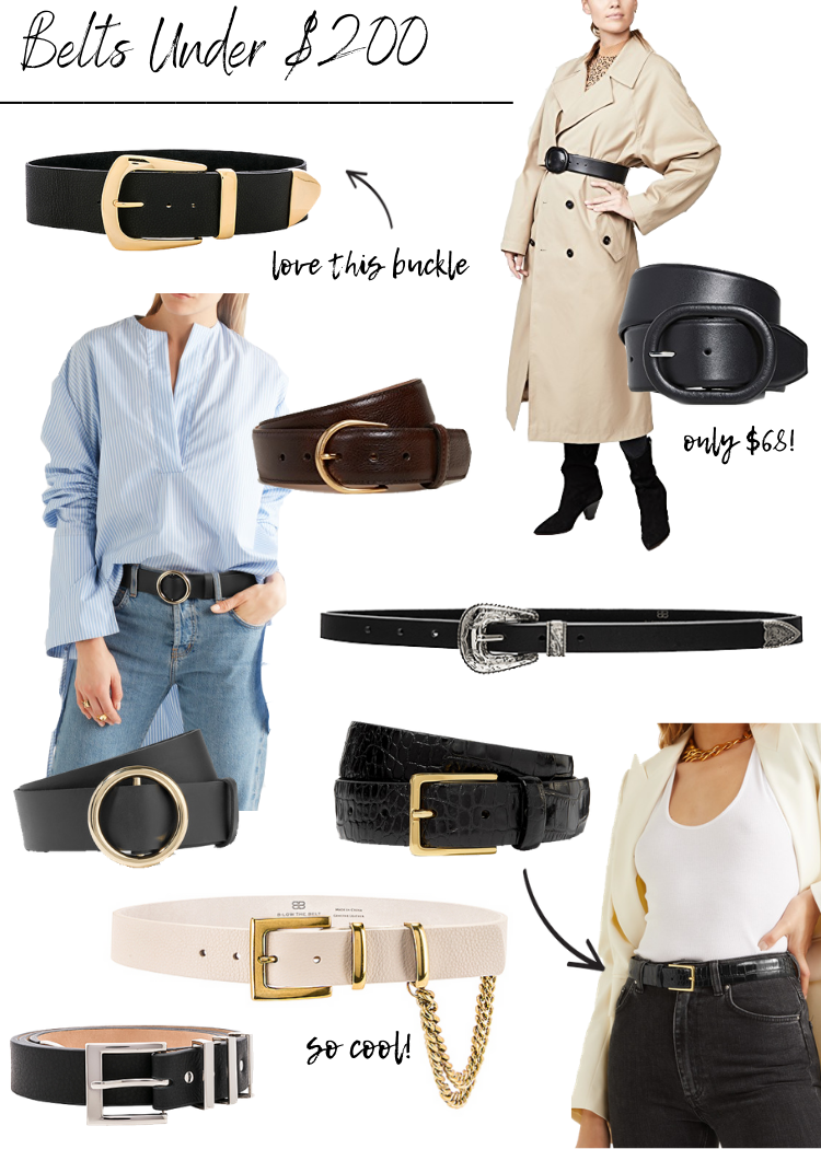 BELTS UNDER $200 & INVESTMENT BELTS