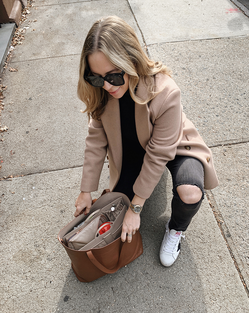 Stylish Diaper Bags - Motherhood Diaper Bag Hack, ToteSavvy Organizer, Helena of Brooklyn Blonde