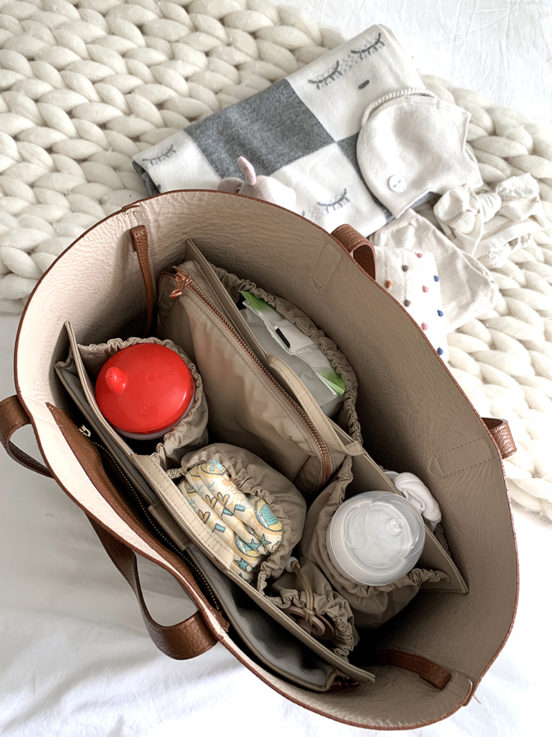 Stylish Diaper Bags -Motherhood Diaper Bag Hack, ToteSavvy Organizer, Helena of Brooklyn Blonde