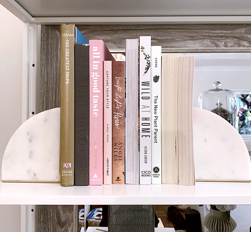 Details Around The Home, Home Decor Accents, Crate & Barrel White Marble Bookends, Helena of Brooklyn Blonde