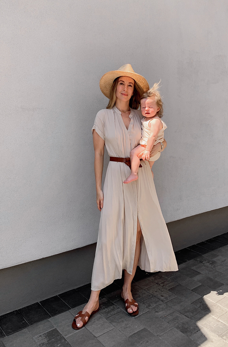 Summer Maxi Dress Outfit, Isabel Marant Lecce Belt, Helena of Brooklyn Blonde
