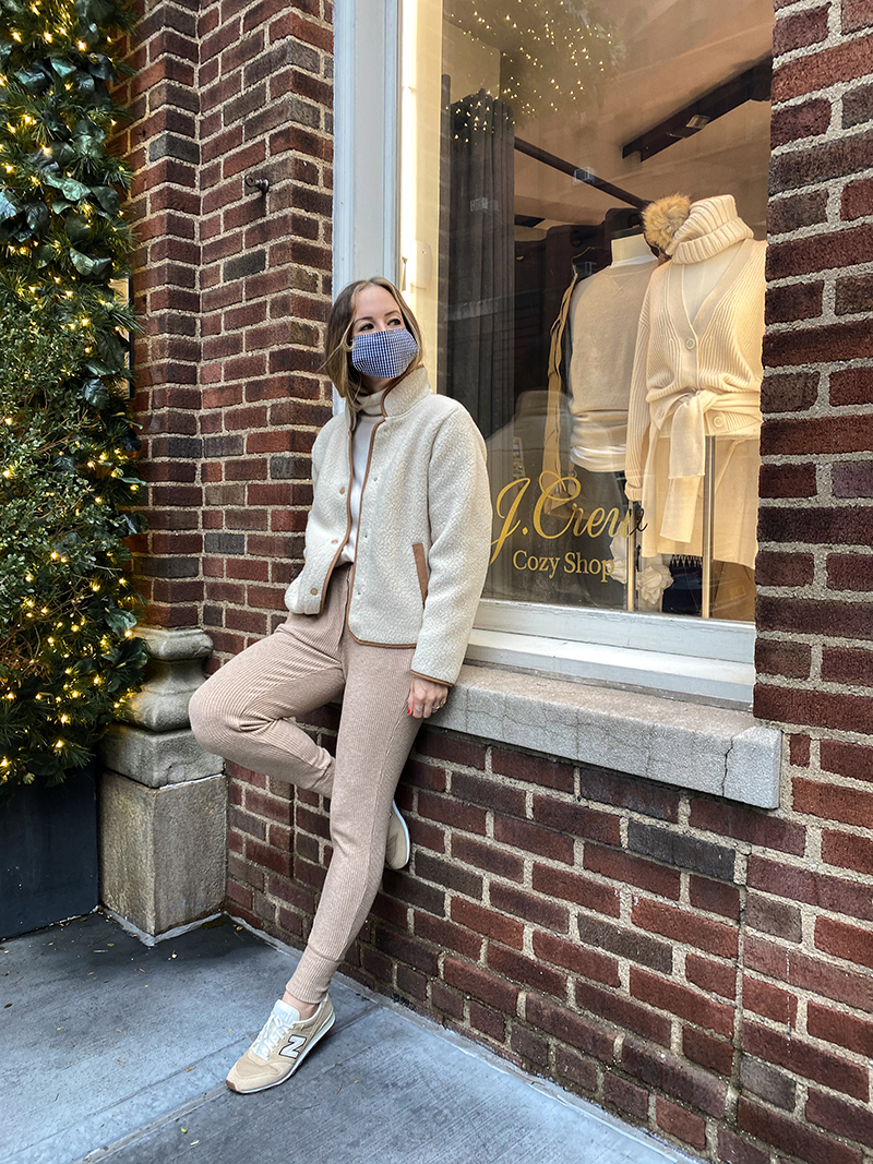 J.Crew Cozy Shop, Winter Loungewear, Cozy Knitwear, Helena of Brooklyn Blonde