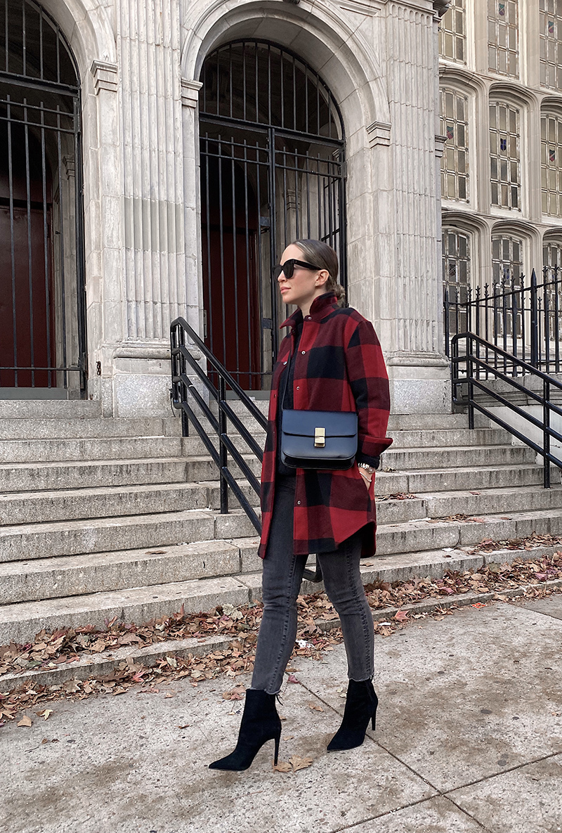 Thanksgiving 2020, Red Buffalo Plaid Shacket Outfit
