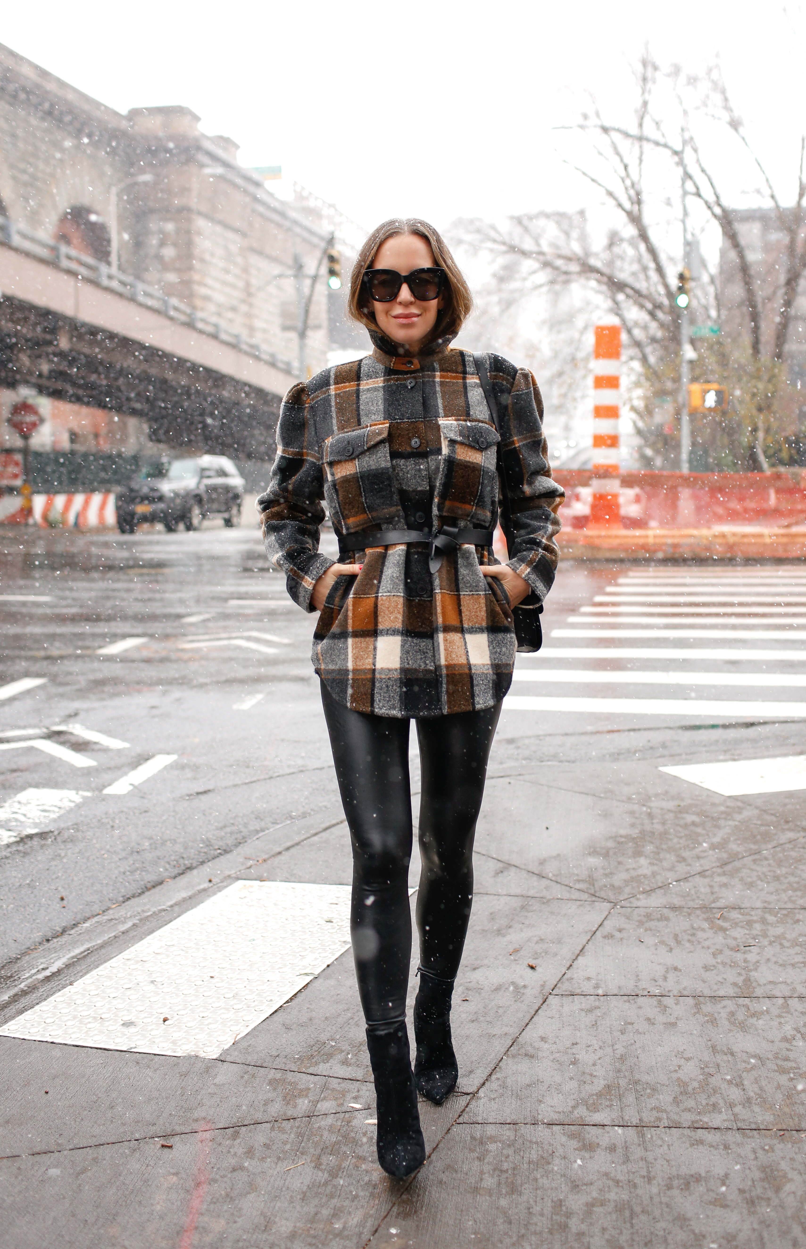 My Favorite Items & Purchases From 2020 | Plaid Shacket Winter Outfit, Commando Faux Leather Leggings, Helena of Brooklyn Blonde