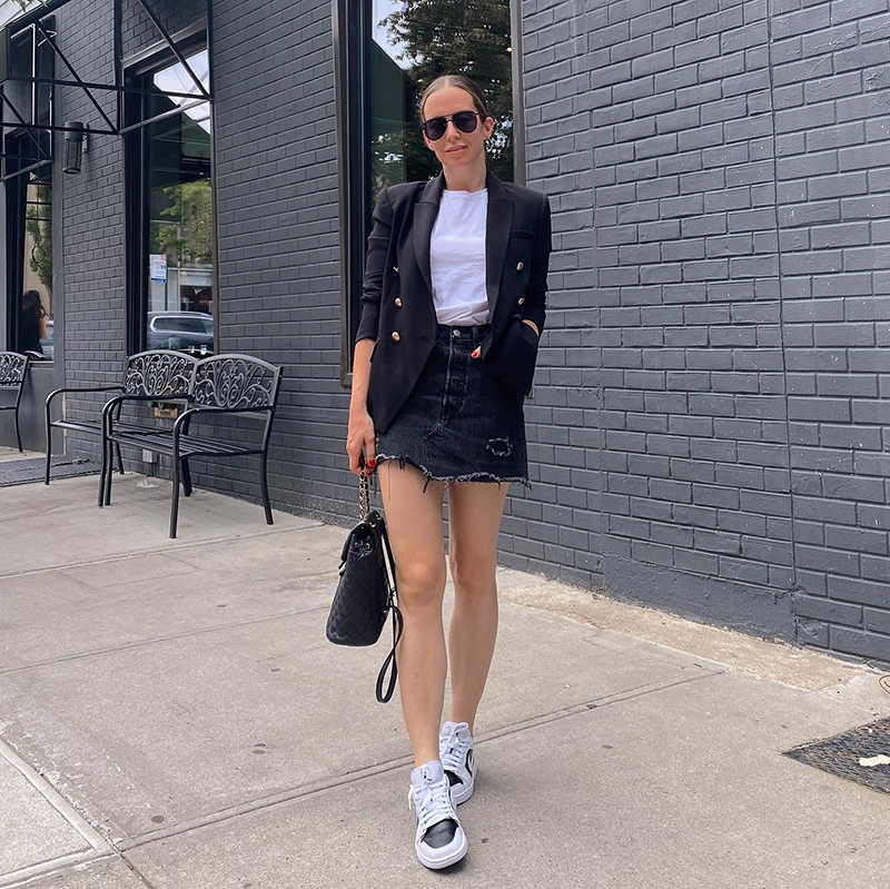 woman on An Urban Flare day wearing skirt and shirt