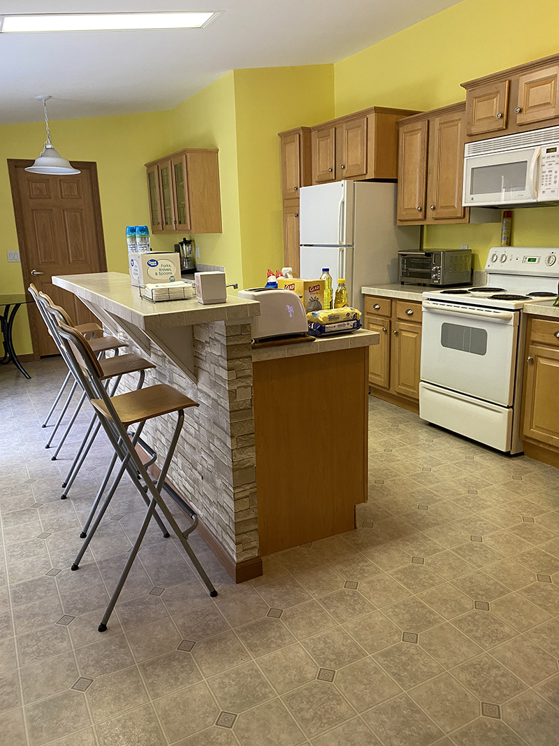 kitchen with yellow walls for Renovation Regrets Rejoices